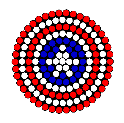 Captain America Shield Kandi Pattern Perler Beads Fuse Beads Perler Bead Templates