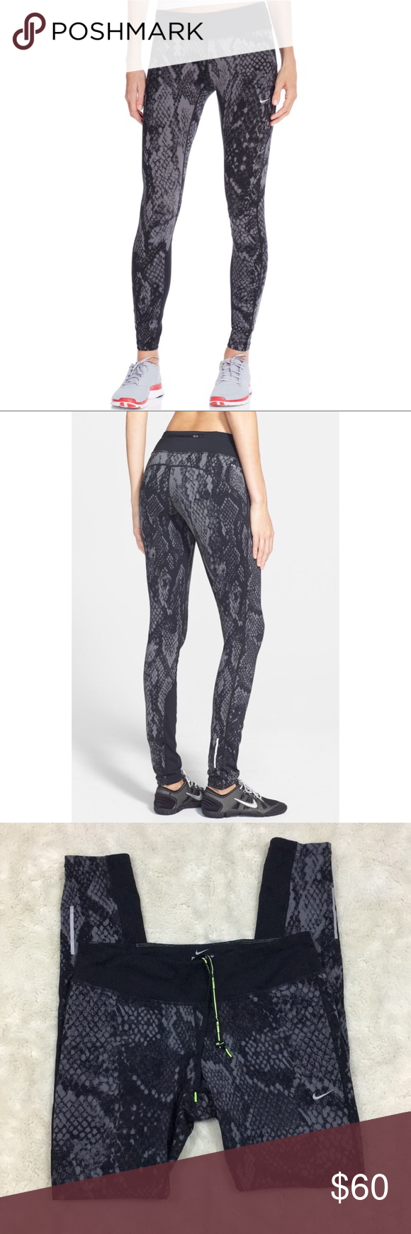 4cb0a6bd5de34 Nike 'Epic Lux' Snakeskin Running Tights Ultra-stretchy, moisture-wicking  Dri