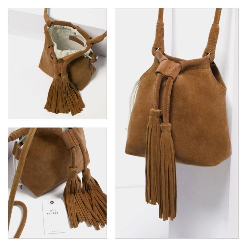 1121c59c7f Zara SPLIT SUEDE CROSSBODY BAG WITH TASSELS 8705/104 Brown. Deluxe.  Exclusive in Clothes, Shoes & Accessories, Women's Handbags | eBay