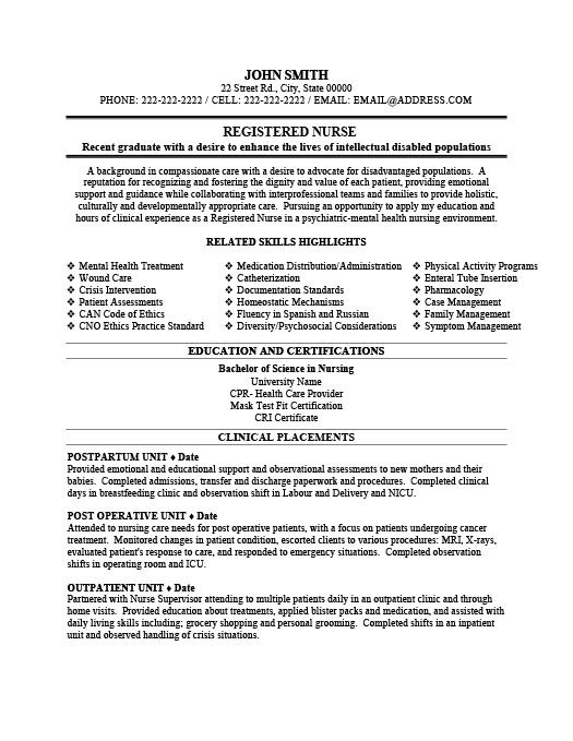 Nursing Resume Skills Registered Nurse Resume Template  Premium Resume Samples