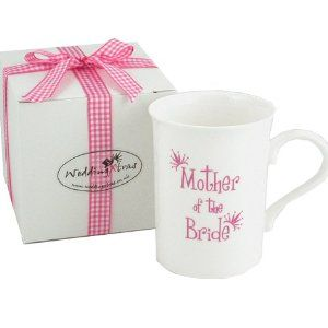 Mother of the Bride Bone China Wedding Mug, a perfect gift to give your Mum on the day of the wedding as a little thank you gift