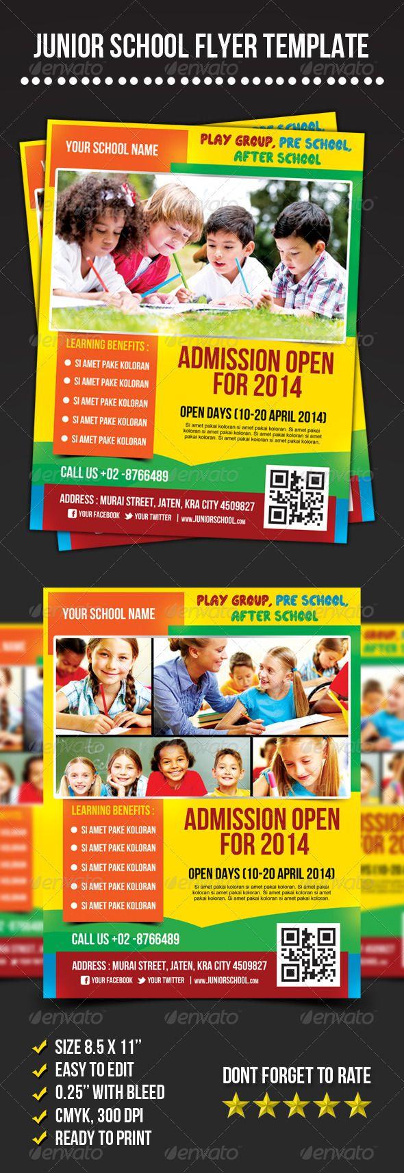 Junior School Flyer — Photoshop Psd #preschool #open Day • Available Here →  Https