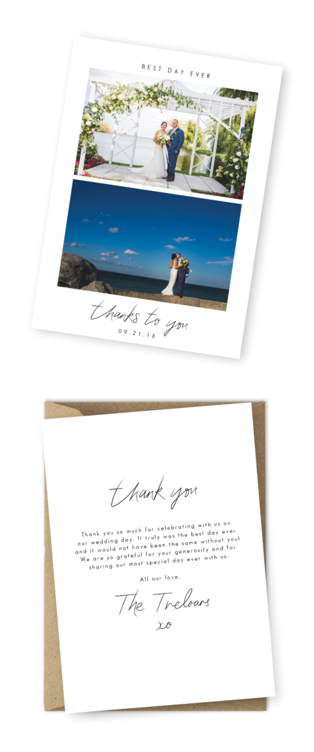 005 Wedding Thank You Card Wording Message Ideas Template