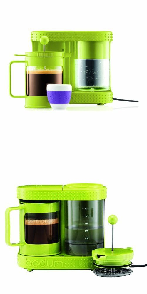 Bistro 4 Cup Electric French Press Coffeemaker 0 5 Liter 17 Ounce Green French Press Coffee Maker French Presses