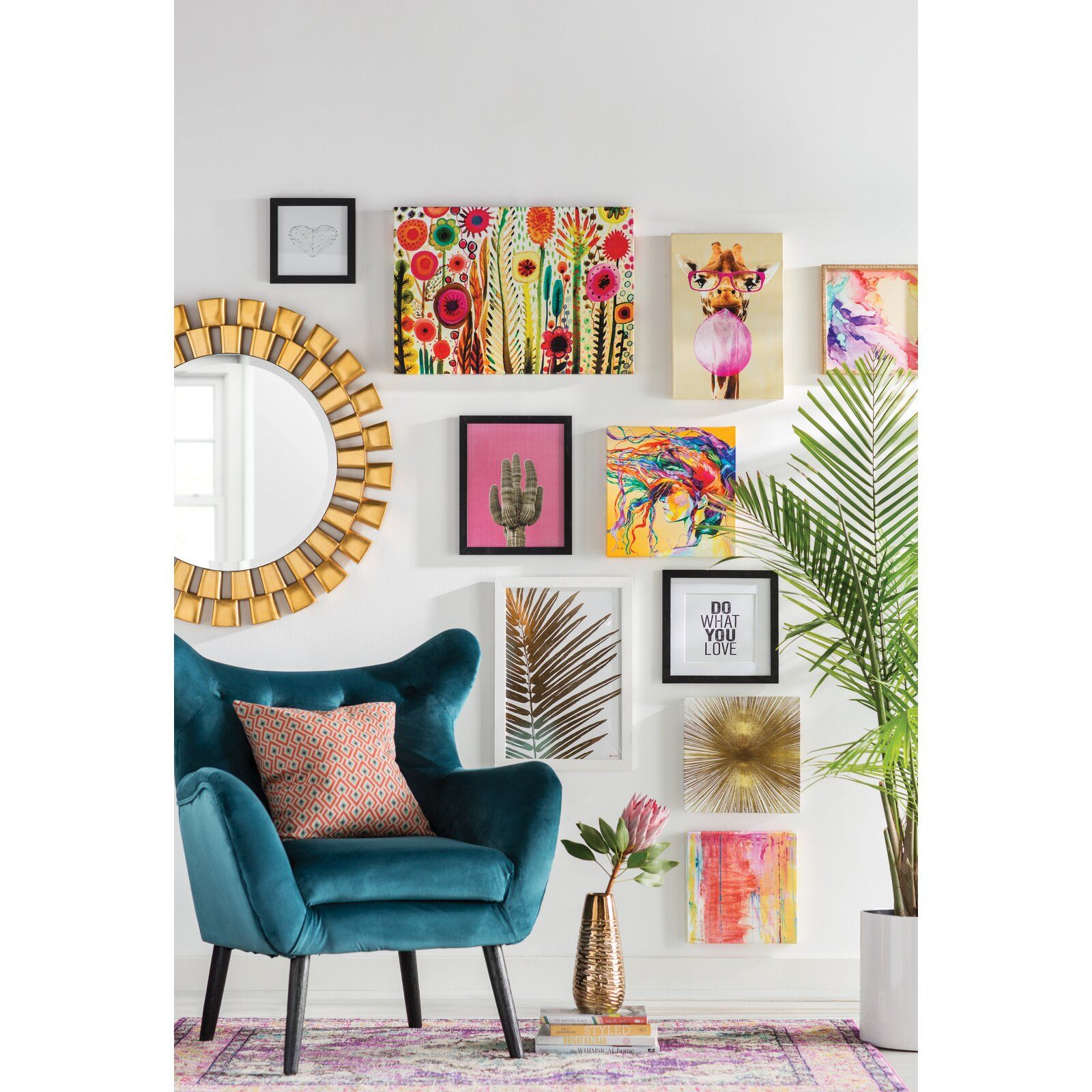 Bouck 21 Wingback Chair Living Room Design Teal Eclectic Living Room Eclectic Living Room Design