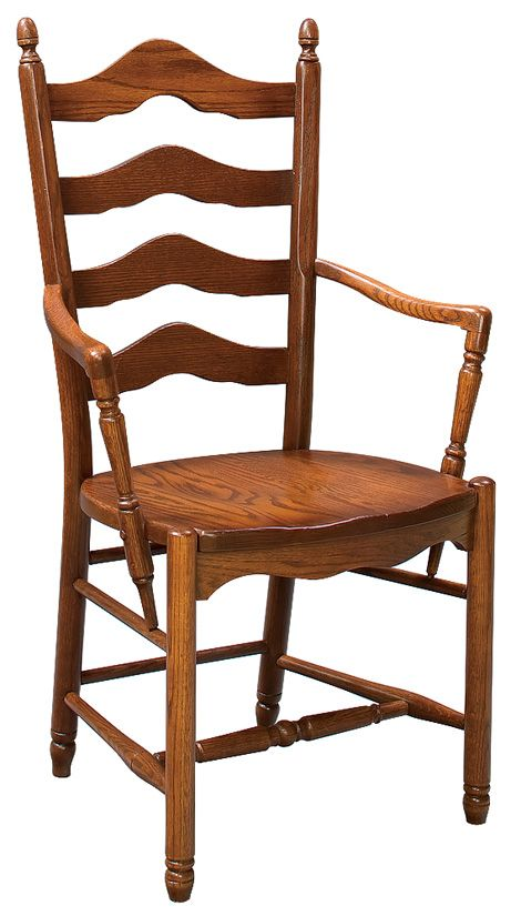 Attirant Amish Unfinished Deluxe Ladderback Arm Chair (Z29AW)   Westchester Woods