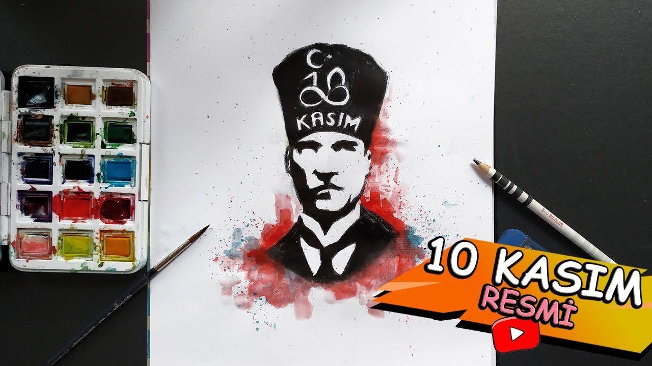 10 Kasim Resmi Cizimi Ataturk Kolay Cizim Egitimleri Cizim Drawing
