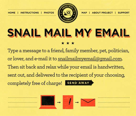 An Easy Way To Turn Email Into Snail Mail  Snail Mail Snail And