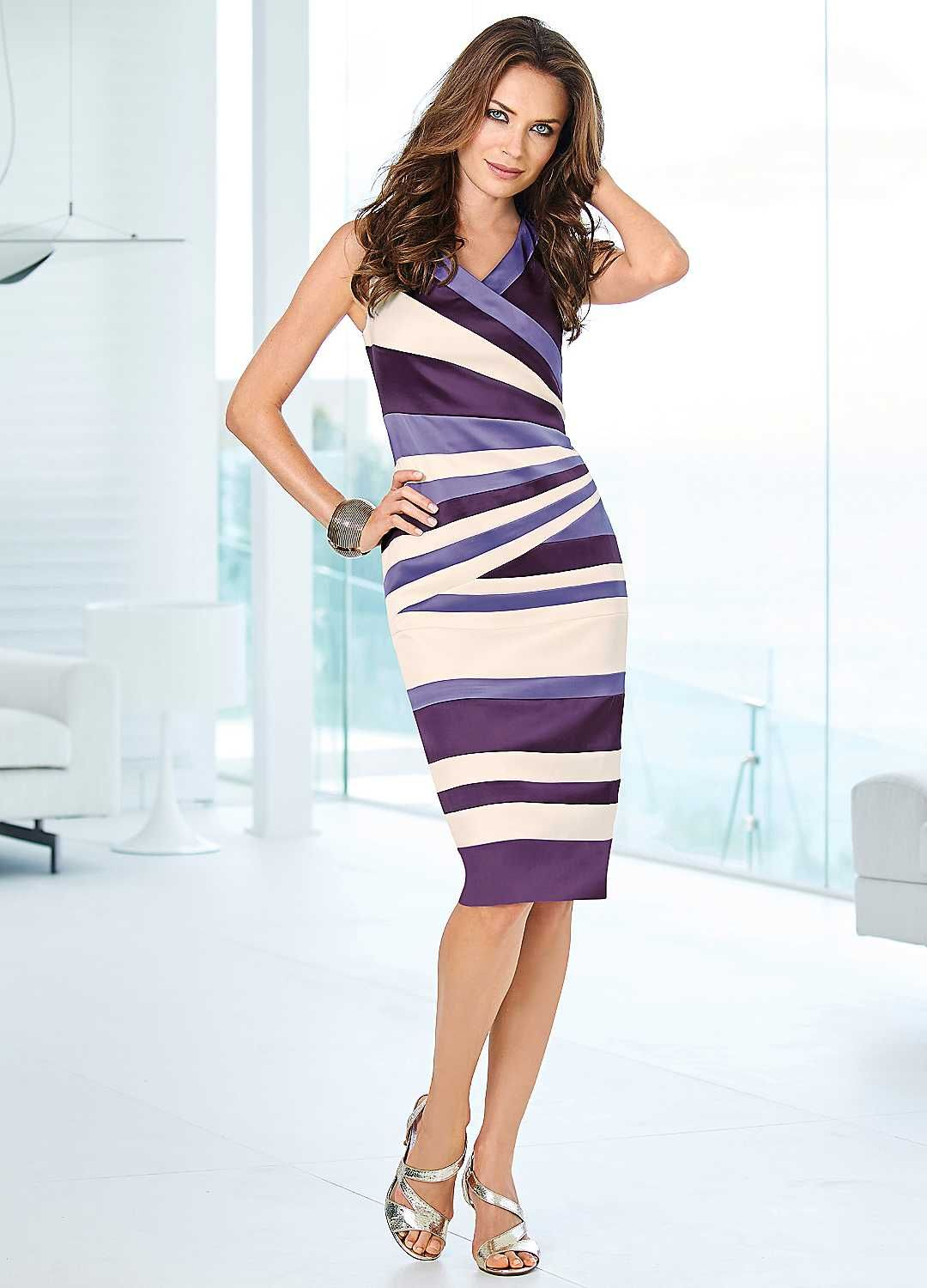 stripe bodycon shift dress - stand out from the crowd in this show