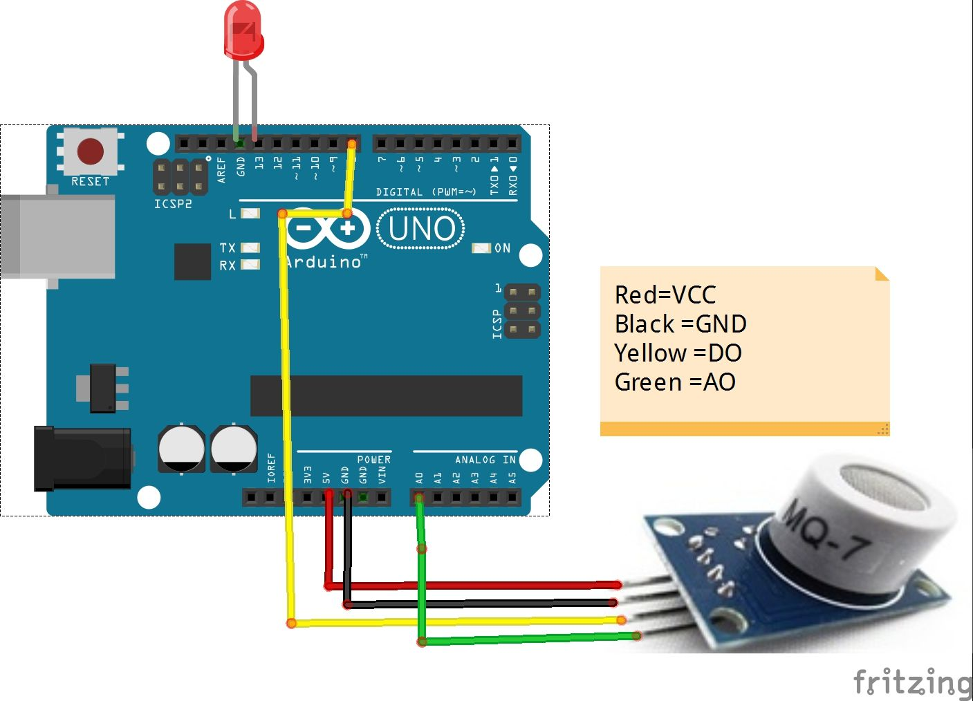 drive mq 7 carbon monoxide(co gas) sensor with arduino osoyoo com Electrical Diagram