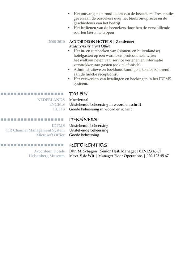 Voorbeeld CV Oxford (Delicatie Blue 2/2, cv voorbeeld word, gratis