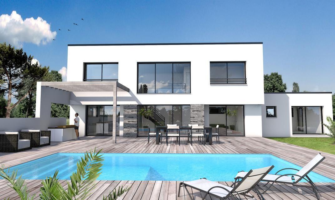 Maison Moderne Vide Sur Séjour St Gilles Croix De Vie Architecture - Modele facade maison moderne