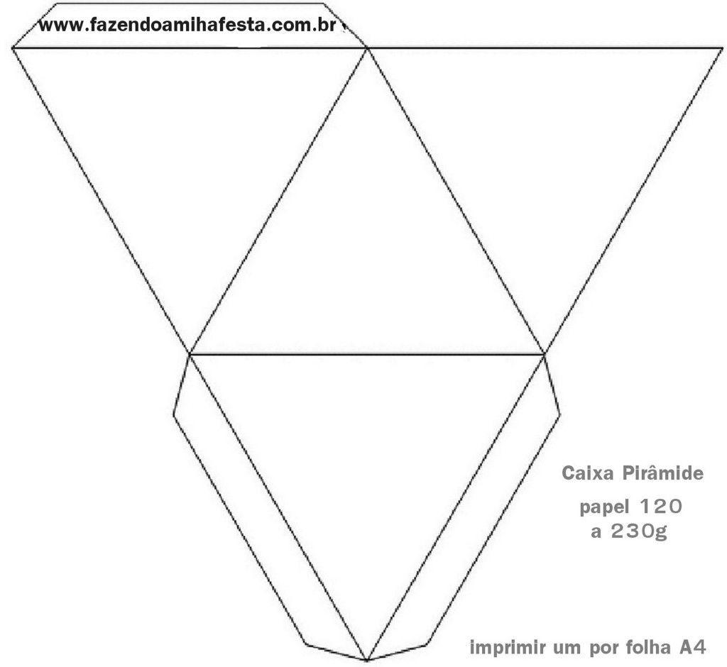 Molde Caixinha Piramide