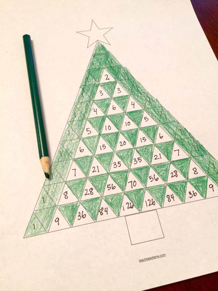 Pascal S Triangle Christmas Tree Math Pascal S Triangle Holiday Math Math