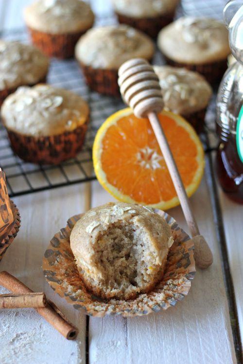 Orange Cinnamon Honey Muffins - Damn Delicious