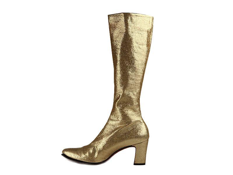 Shoes / Gold lame go-go boots