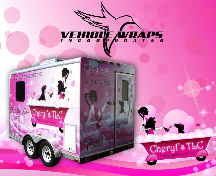 Full Vehicle Wrap Trailer Wrap Cheryl's TLC Mobile Pet