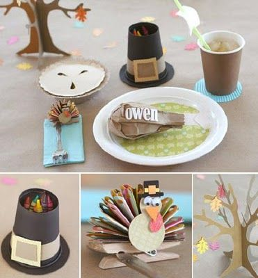 Thanksgiving Kid Table Ideas & 60 Stylish Table Settings for Thanksgiving - Tablescape Ideas and ...