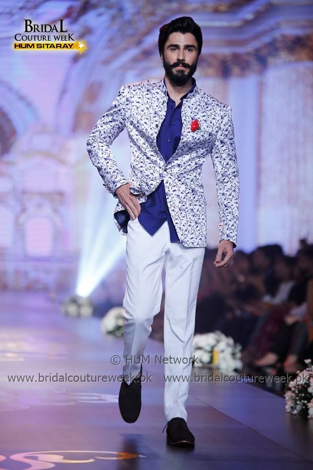 Ravishing Blue formal suit by amir adnan for men