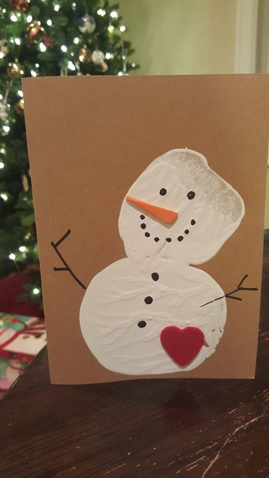 Homemade Christmas Cards | Cute christmas cards, Christmas cards handmade kids, Christmas cards kids