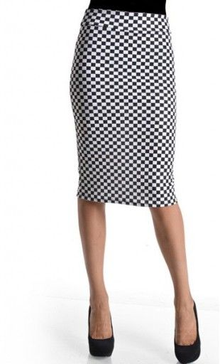 95bb7fe058 Womens mid legnth black and white classic checkered pencil skirts available  in S-L. #checkeredprint