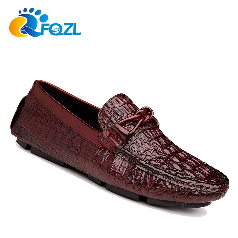 Men's Genuine Leather Loafers Casual Flats Driving Shoes