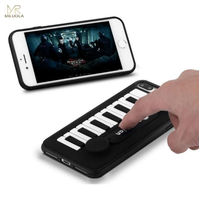 MLR 3D Piano Music Keys Holder Soft Silicone Phone Cases for ...