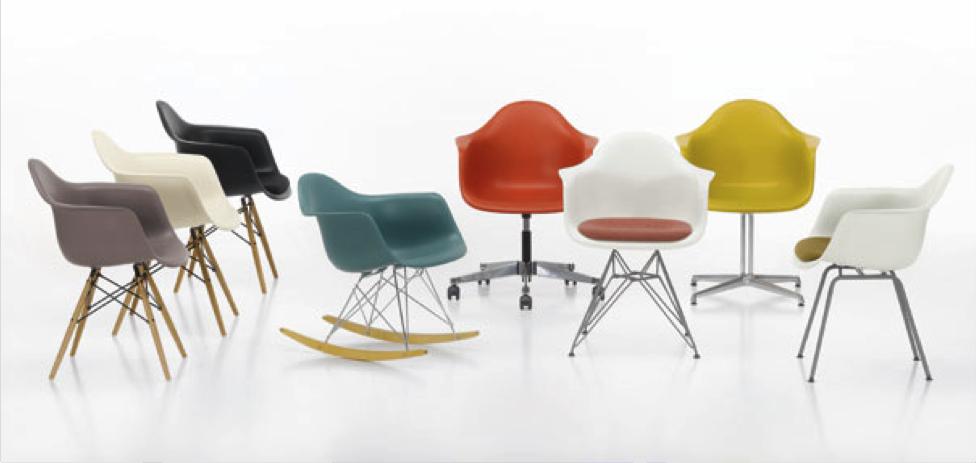 Chaise Eames : DSW, DSR, DAW, DAR, RAR Charles & Ray Eames
