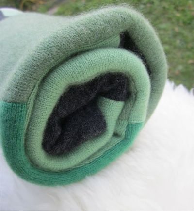 Owl 100% Cashmere Baby Blanket - Greens & Charcoal - Heirloom Quality