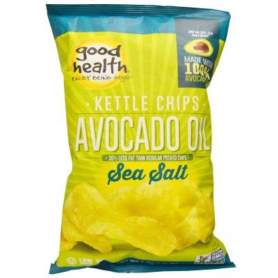 Good Health Natural Foods, Kettle Chips, Avocado Oil, Sea Salt- omg these are my new favorite chips! Love these!
