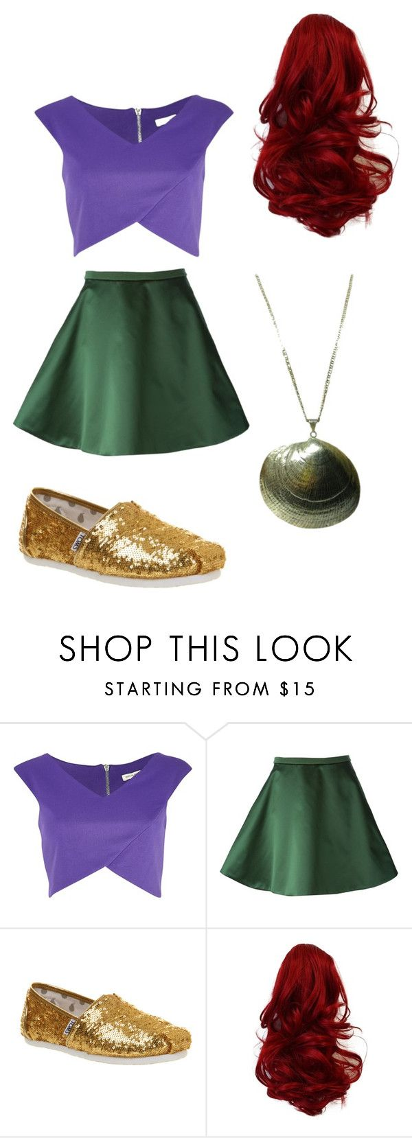 """ariel"" by sum-1996 ❤ liked on Polyvore featuring River Island, Acne Studios and TOMS"
