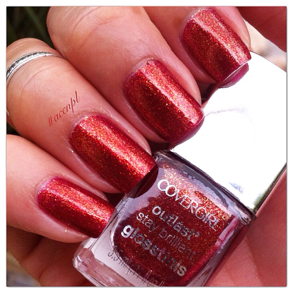 Two coats and no top coat of INFERNO by Cover Girl. #nails ...