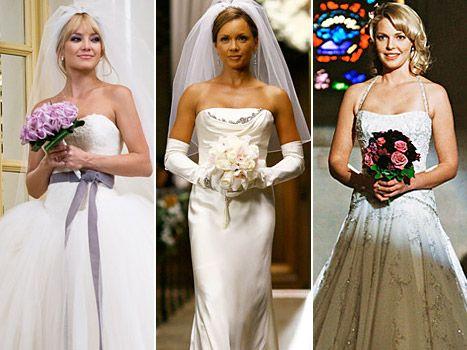 Stars Glamorous Tv And Movie Wedding Dresses