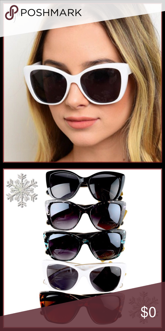 ca6bb128b918 Eyeglasses · Sale So FUN CATEYE Sunglasses in Various Colors WhIte is SOLD  OUT.