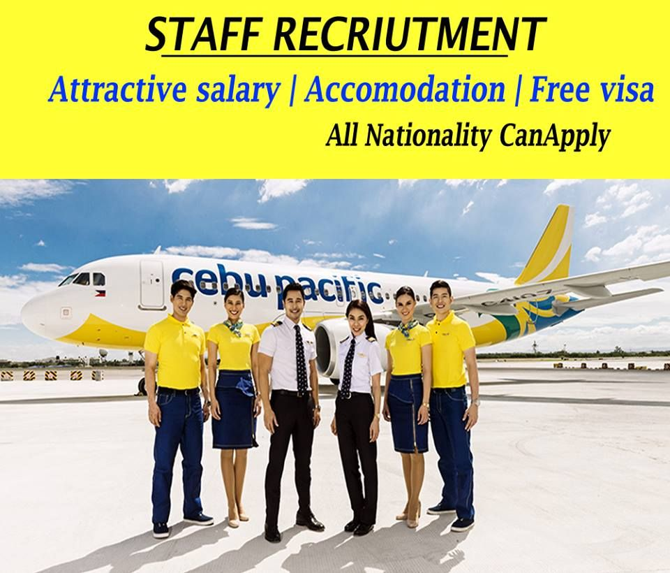 Cebu Pacific Careers Attractive Salary Accommodation Flight Tickets Visa Click Here To Apply Airline Jobs Airport Jobs Cebu
