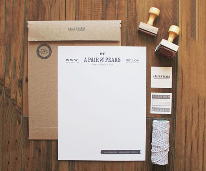 find this pin and more on branding pair of pears creative letterhead design