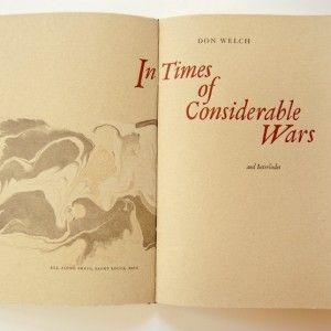 Elysia Mann – In Times of Considerable Wars – (Juror Award + Purchase award) - $275