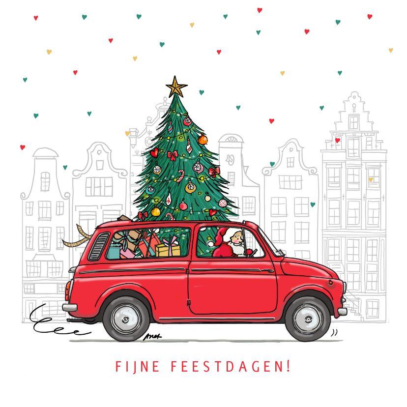 Kerstkaart Fiat 500 Giardiniera Kaartje2go Kerst Kaarten Fiat 500 Kaarten