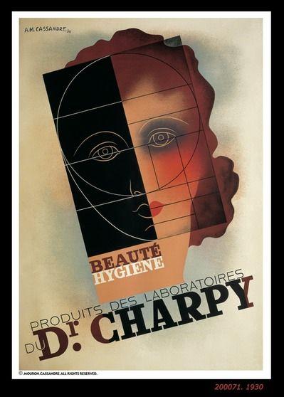 A M Cassandre Dr Charpy 1930 Art Deco Posters Vintage Poster Art Creative Poster Design