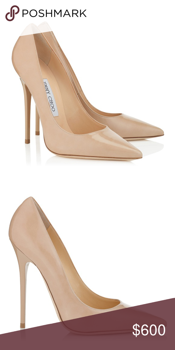 "82b0da356409 Jimmy Choo ""Anouk"" Nude - NWT Nude Patent Pointy Toe Stiletto Pumps Jimmy  Choo"