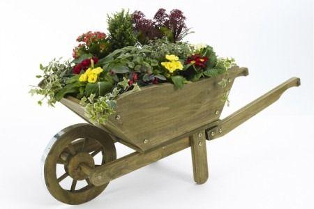 Carretillas para jardin de madera buscar con google for Carretillas de madera para jardin