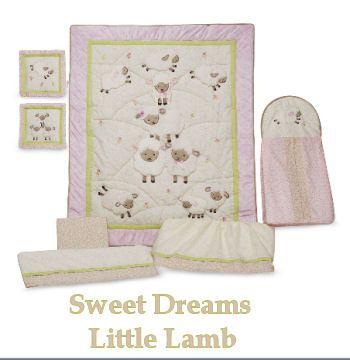 Lamb Theme Nursery Little Lambs Baby Bedding