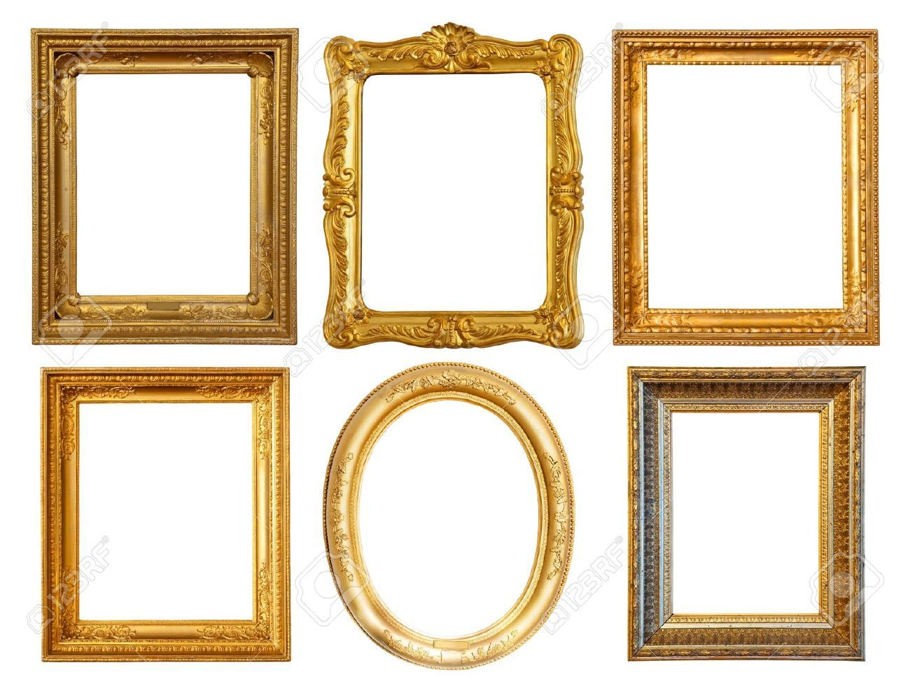 9409560 set of few luxury gilded frames stock photo frames frame 9409560 set of few luxury gilded frames stock jeuxipadfo Images
