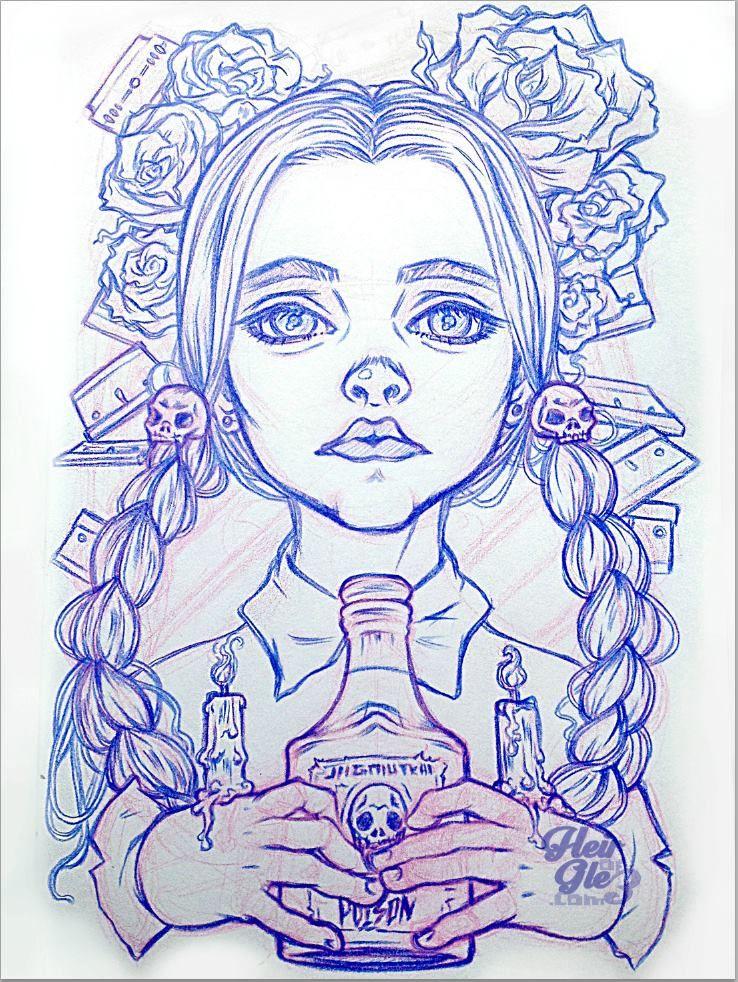 hair of glee Drawings, Art, Sketches
