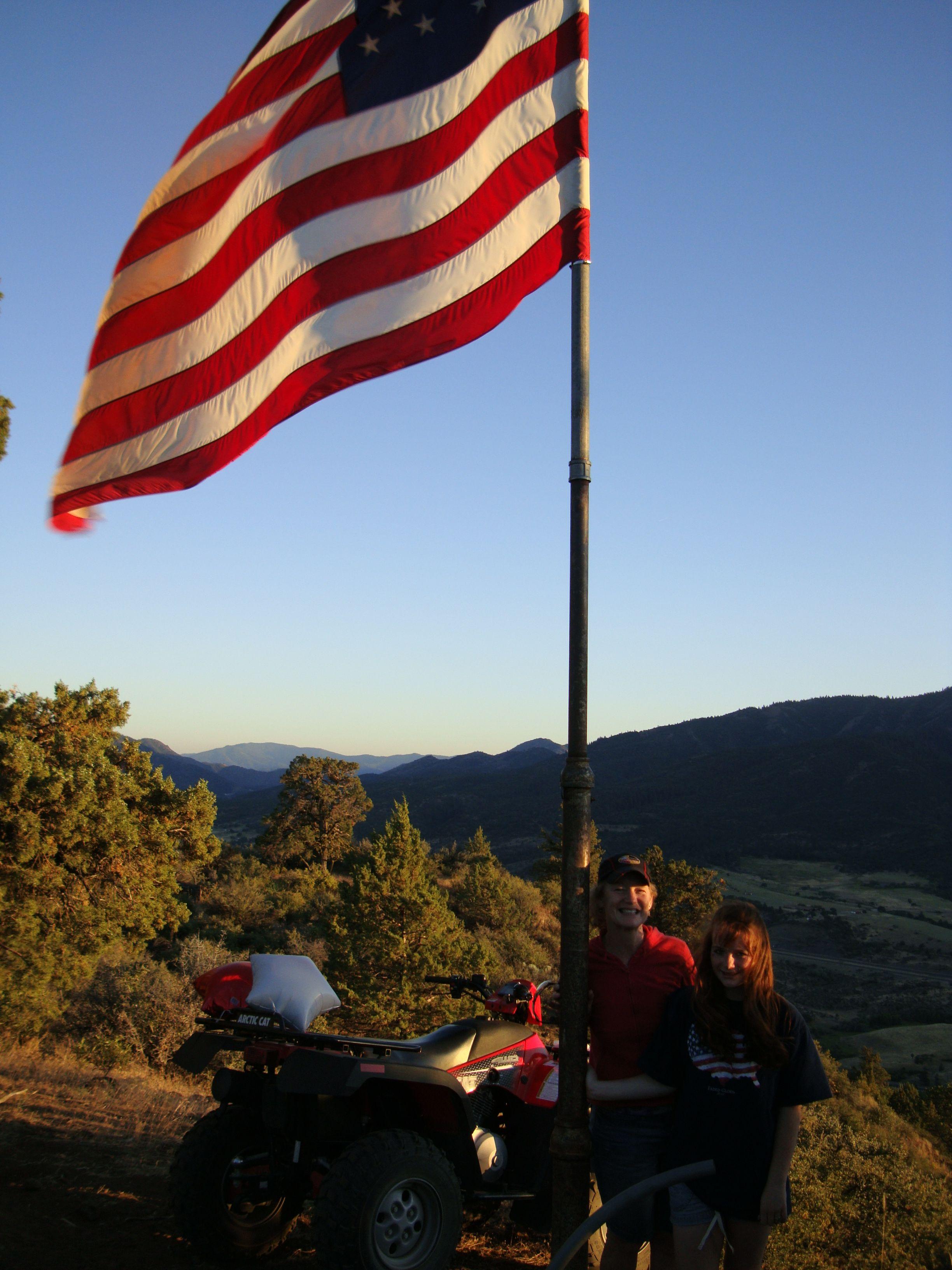 R Ranch Hornbrook California Atv American Flag Usa Merica Hornbrook Northern California Horseback Riding