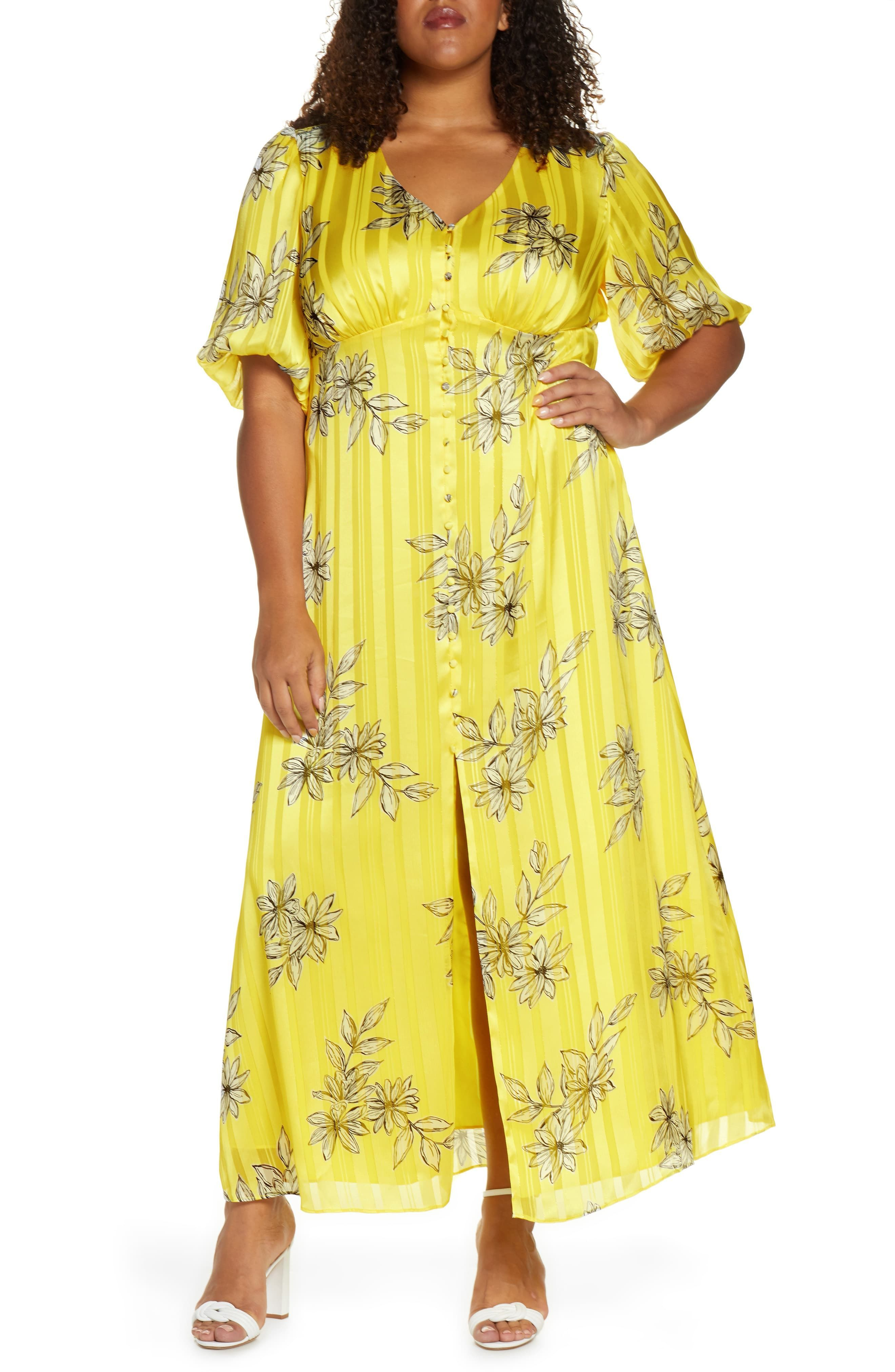 Plus Size Women S Maree Pour Toi Floral Metallic Stripe Button Front Maxi Dress Size 24w Yellow Sou In 2020 Plus Size Dresses Plus Size Maxi Dresses Maxi Dress [ 4048 x 2640 Pixel ]