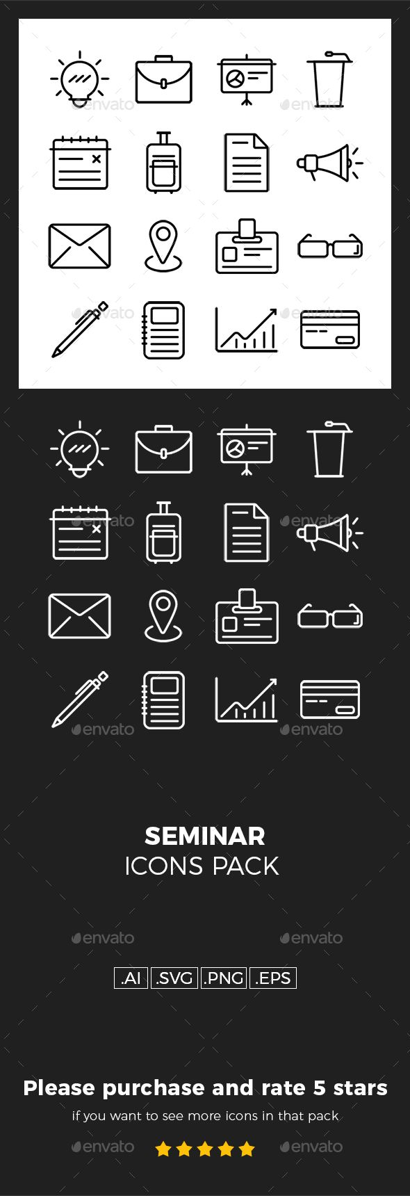 Seminar Icons Pack Icon Pack Icon Graphic Design Flyer