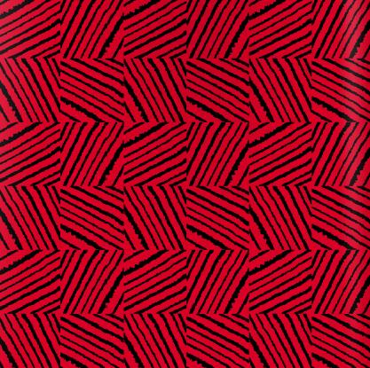 Estampa Topomorfose, criação da artista Heloísa Crocco aplicada sobre a textura da câmara de pneu para a coleção especial Vuelo + Crocco Ogro Cor.