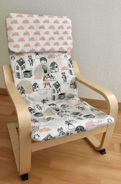Poang Kinderfauteuil Ikea.Tutorial Bezug Fur Ikea Poang Kindersessel Nahen Diy Babykamer
