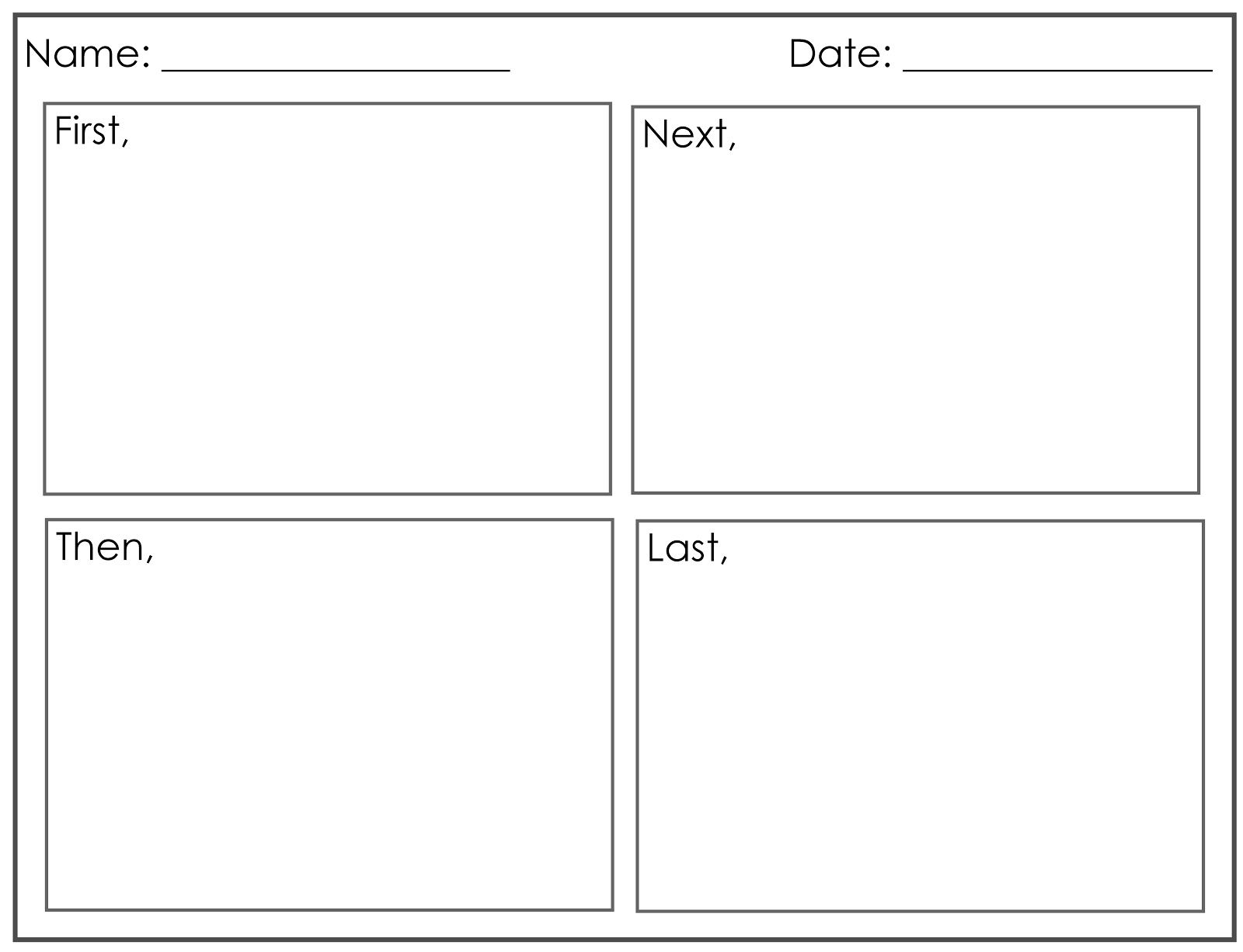 Four Square Writing Template Printable Four Square Writing Method